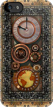 """Elegant Steampunk Timepiece"" iPhone & iPod Cases by Steve Crompton 