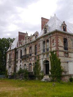 Abandoned castle near Paris, France