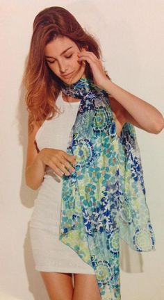 Malfroy Silk Scarf from Zuri Fashions in Oakville, Ontario, Canada