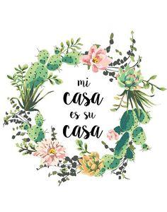 Mi Casa Es Su Casa druckbare Kunst von PaperStormPrints auf Etsy
