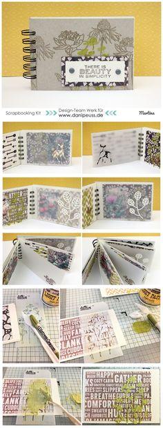 Mini Book mit dem #dpNovemberkit16 von Martina für www.danipeuss.de #crate #simplestories #dpmixedmediakit