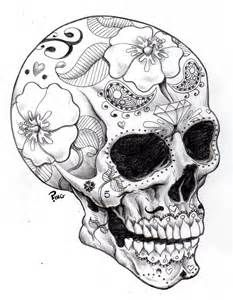 Sugar Skulls Coloring Page - Another Awesome pin repinned by http://detailedcoloringbooks.blogspot.co.uk/