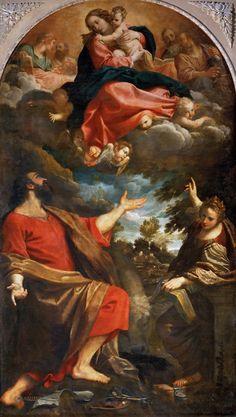 Annibale Carracci - Apparizione della Vergine ai Santi Luca e Caterina o Madonna di San Luca, 1592