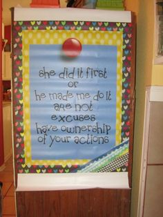 Love this sign! From: Oh' Boy 4th Grade: Freebies and Ideas