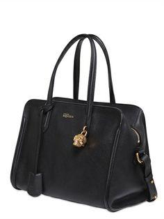 Alexander McQueen Padlock grained leather top handle bag