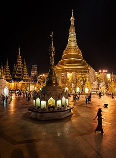 Shwedagon pagoda, Yangon, Myanmar🌸The World is an Exciting Place! Places Around The World, The Places Youll Go, Places To See, Around The Worlds, Myanmar Travel, Asia Travel, Burma Myanmar, Travel Tourism, Travel Tips