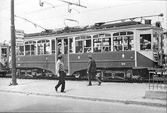 ... tranvia intercomunale Milano-Vimercate, motrice ATM-90 - Milano via Palmanova - 15 giu 1958 - © Umberto Garbagnati -
