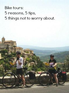 Bike tours: 5 reasons, 5 tips, 5 things not to worry about. http://solotravelerblog.com/bike-tours-for-solo-travelers-5-reasons-5-tips-5-things-not-to-worry-about/