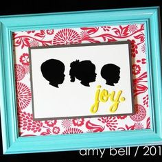 Framed Silhouette Vignette Tutorial ~ homemade Mother's Hay gift