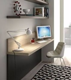 Home Office Design. Fill your desk with stuff you love from www. Home Office Design. Fill your desk with stuff you love from www. Mesa Home Office, Home Office Table, Home Office Lighting, Home Office Desks, Home Office Furniture, Furniture Design, Furniture Ideas, Office Spaces, Apartment Office