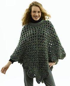 Free+Crochet+Pattern+Lion+Brand | FREE CROCHET PATTERNS PONCHOS - Crochet — Learn How to Crochet