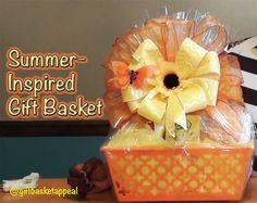 #LoveSummerArt - Summer in a Basket - GiftBasketAppeal