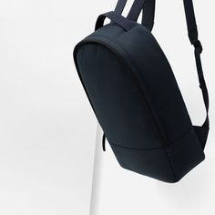 Image 2 of SINGLE COLOR TECHNICAL FABRIC BACKPACK from Zara
