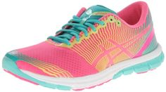 ASICS Women's Gel-Lyte33-3 Running Shoe,Flash Pink/Lime/Green,9.5 M US Asics' ultralight running shoe is for athletes who are serious about dropping ounces from their footwear. At approx. 6.8 oz. in weight, the GEL-LYTE33™ 3 is nearly two ounces lighter than the previous version. Nearly seamless synthetic upper with breathable mesh panels. F.A.S.T.™ Heel lightweight heel construction minimizes... #ASICS #Shoes