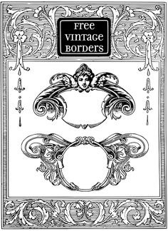 Gorgeous Free Vintage Frame Borders and Images - StarSunflower Studio Cliparts Free, Mythology Books, Decoupage Printables, Clip Free, Vintage Borders, Digital Scrapbooking Freebies, Borders And Frames, Stencil Art, Printable Designs