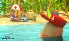 Fubble is Baywatch, but with his love of sleeping surely trust that saves us is not very safe. Glumpers on the beach enjoying the summer holidays. Cartoon comedy for kids.  ----- Fubble es el vigilante de la playa, pero con su gran afición por dormir es difícil que nos salve. Los Glumpers están en la playa disfrutando de las vacaciones de verano ahora que ha acabado el colegio: Sol, calor, relax, playas bonitas y los amigos. Glumpers, dibujos animados divertidos, comedia animación para niños Comedy Cartoon, Cartoon Gifs, Baywatch, Comedy Tv Series, Christmas Ornaments, Holiday Decor, Funny, Summer, Summer Vacations