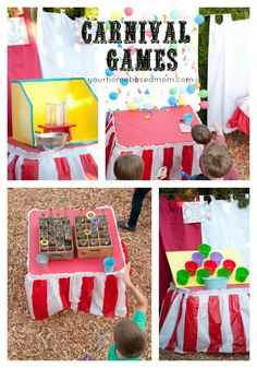 Carnival Games for a carnival party Circus party, so fun! carnival Carnival Circus Inspired Come One Come All Carnival Party Printables FULL. Diy Carnival Games, Fall Carnival, Circus Carnival Party, Carnival Birthday Parties, Circus Birthday, Carnival Wedding, Circus Theme, Carnival Activities, Carnival Tent