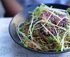 Seared sesame tuna tataki with soba noodles! Love the dressing for the noodles definitely a perfect summer dish! @legacycamberwell  #legacy #camberwell #melbcafe #melbeats #melbourneeats #food52 #foodie #foodstagram #foodspotting #foodblogger #melbournefoodblogger #eatingout #foodmadewithlove #tuna #tataki #sobanoodles #summerdish by lianneelow