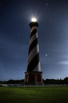 Cape Hatteras lighthouse by haglundc, via Flickr I have climbed this lighthouse, the tallest in the US. It is exhausting but worth it - the view of the Outer Banks is amazing!
