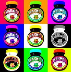Marmite - can be used for vegan nutrition! This pop art by Chris Jones has been reproduced under Creative Commons Licence. Andy Warhol Pop Art, Richard Hamilton, Pop Art Food, Pop Art For Kids, Dark Art Photography, La Marmite, Kids Canvas Art, Vegan Nutrition, Product Design