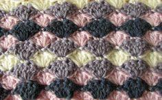 VERY EASY crochet shell stitch blanket - crochet blanket/afghan for begi...