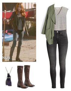 """Clary Fray - Shadowhunters"" by shadyannon ❤ liked on Polyvore featuring Børn, H&M and Chicwish"