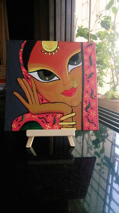 Canvas Choices Easy Canvas Painting, Mural Painting, Fabric Painting, Canvas Art, Madhubani Art, Madhubani Painting, Rajasthani Art, Indian Folk Art, Indian Art Paintings