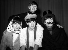 The Beatles in costume for their Christmas Show Show, 1963