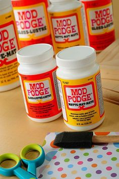 the guide to mod podge. this describes the different formulations and how to use them