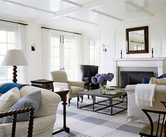 dam images resources 2009 02 rugs 19 rugs Architect Oscar Shamamian, of Ferguson & Shamamian, collaborated with New York-based interior designer Victoria Hagan on an 8,000-square-foot, Shingle Style summer house overlooking the water on Nantucket