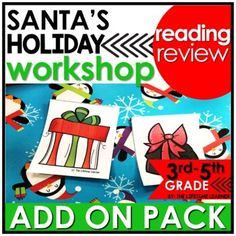 Get ready to help Santa with this Christmas reading classroom transformation ADD ON PACK! Your students complete challenges that are holiday-themed and are easy to swap out with any Christmas-themed reading room transformation! Use this fun pack of reading skills to spiral review other skills during...