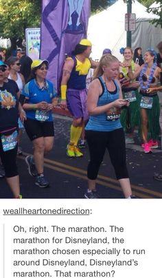 Kronk runs a marathon
