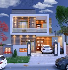 Its 5 residential house with 3 rooms andattach washroom. Also have open kitchen and other all required utilities . Modern Bungalow House Design, House Balcony Design, House Outer Design, 3 Storey House Design, Modern Small House Design, House Outside Design, Modern House Facades, Modern Exterior House Designs, Duplex House Design