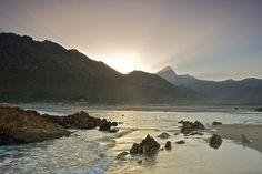 Sunrise over the Rooi Els estuary -- South Africa