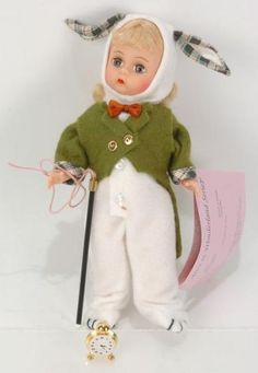 "Madame Alexander, Alice in Wonderland, 8"" White Rabbit 14509"
