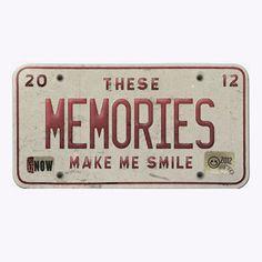 "Free Download: ""These Memories Make Me Smile""-Free Vintage License Plate Sentiment-Pixelberrypie.com - Pixelberrypie.com"