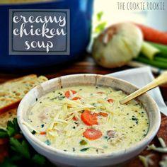 Creamy chicken soup recipe