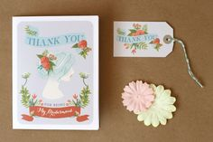 Free Printables: Bridesmaid Thank You Cards + Rustic Mad Libs