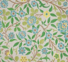 Beautiful multi-color floral botanical leaves design in Meadowfield Lime for The New York Botanical Garden Collection by Vervain Turquoise Home Decor, Leaf Design, Traditional Design, Botanical Gardens, Slipcovers, Upholstery, Lime, Fabrics, Teal