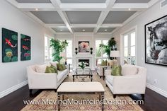 coffered ceilings to hide ductwork in condo - Google Search