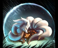 Ninetails and Vulpix :)