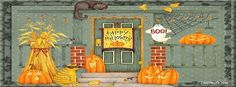 Halloween Decorated House Facebook Covers, Halloween Decorated House FB Covers, Halloween Decorated House Facebook Timeline Covers, Halloween Decorated House Facebook Cover Images