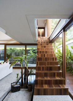 a new take on hardwood stairs