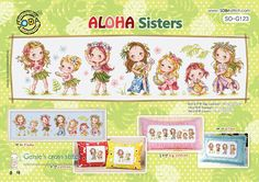 ALOHA Sisters - cross stitch pattern or kit. SODAstitch SO-G123 ALOHA Sisters. - Kit - SODAstitch's original design(Manufactured in Korea). and Two stitching needle. A piece of 14 count Korean white Aida,More than enough presorted DMC cotton floss. | eBay!