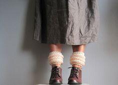 Womens leg warmers knitted leg warmers shoes by woolpleasure, $25.00
