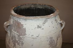 Large Antique Terracotta Olive Jar Pottery for Sale Spanish Olives, Greek Olives, Olive Jar, French Bed, Crete, Urn, French Antiques, Terracotta, Pots