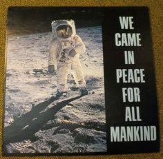 New to BigfootCountryTrader on Etsy: We Came in Peace for all Mankind - record album - Promotional item political Jim Keysor for assembly 41st District (15.00 USD)