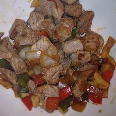 HCG Diet - Steak with 2 tsp onion, 1 tsp peppers and 1 clove of garlic