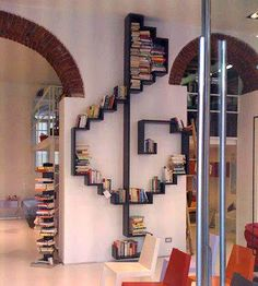 A bookshelf can also make a nice partition wall or a unique decoration in your room. Check out these extraordinary bookshelf ideas Creative Bookshelves, Bookshelf Ideas, Bookshelf Decorating, Decorating Ideas, Bookshelf Inspiration, Bookshelf Design, Short Bookshelf, Bookshelf Storage, Book Storage