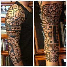 @sevenseas_tattoos skindrawn, lined n filled, thanks Paulo! #magicmoonneedles